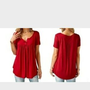 NEW RED BLOUSE